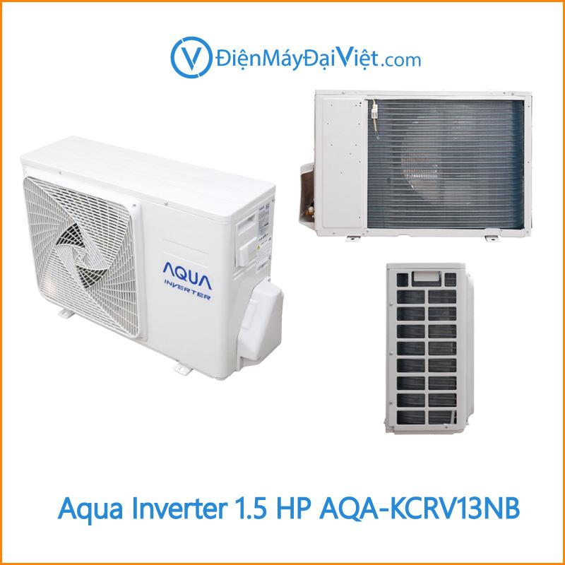 Máy lạnh Aqua Inverter 1.5 HP AQA KCRV13NB Cuc Nong Dien May Dai Viet