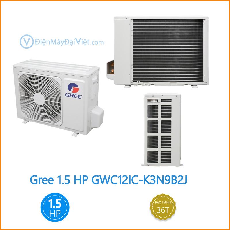 Máy lạnh Gree 1.5 HP GWC12IC K3N9B2J Dien May Dai Viet 1 1