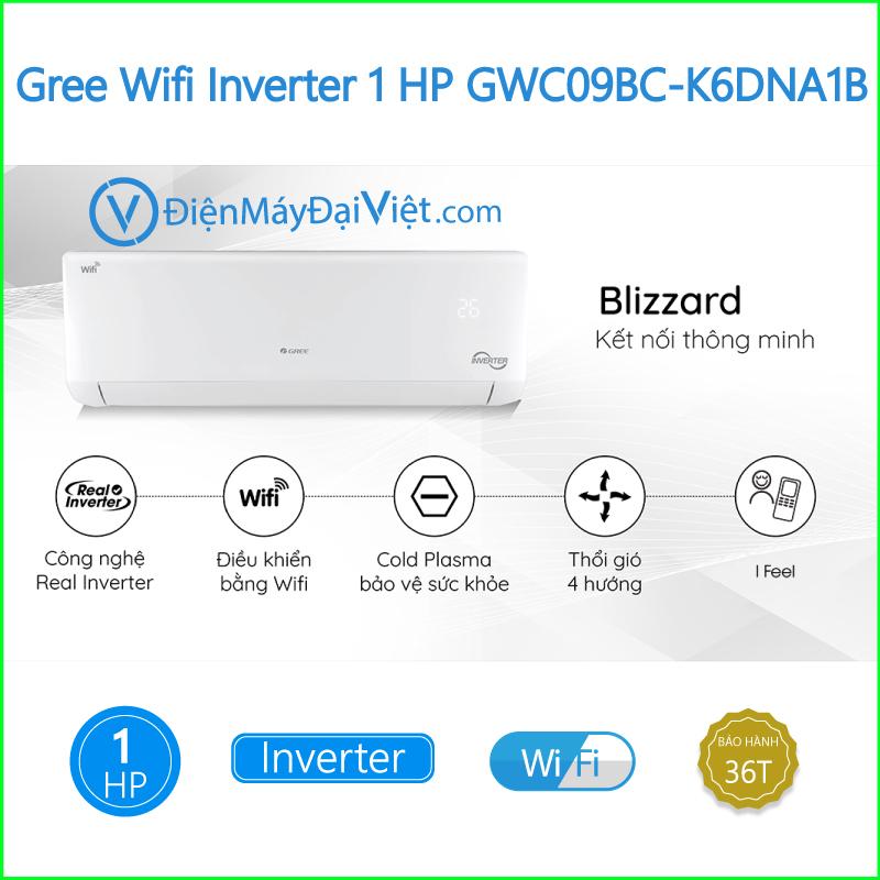 Máy lạnh Gree Wifi Inverter 1 HP GWC09BC K6DNA1B 1