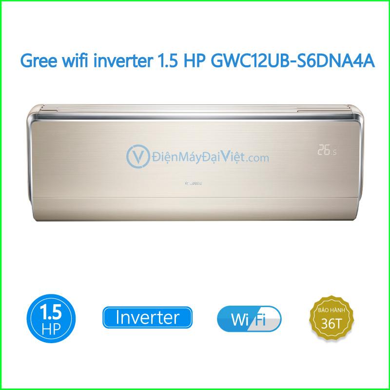 Máy lạnh Gree wifi inverter 1.5 HP GWC12UB S6DNA4A