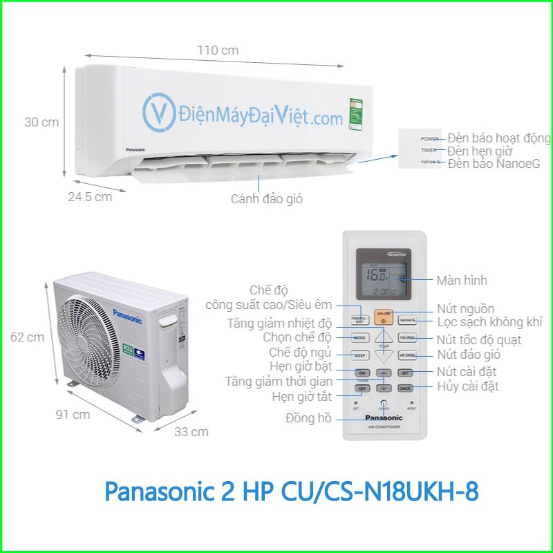 Máy lạnh Panasonic 2 HP CUCS N18UKH 8 1