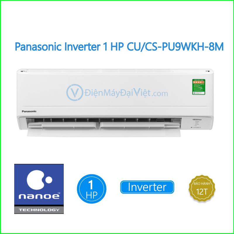 Máy lạnh Panasonic Inverter 1 HP CUCS PU9WKH 8M