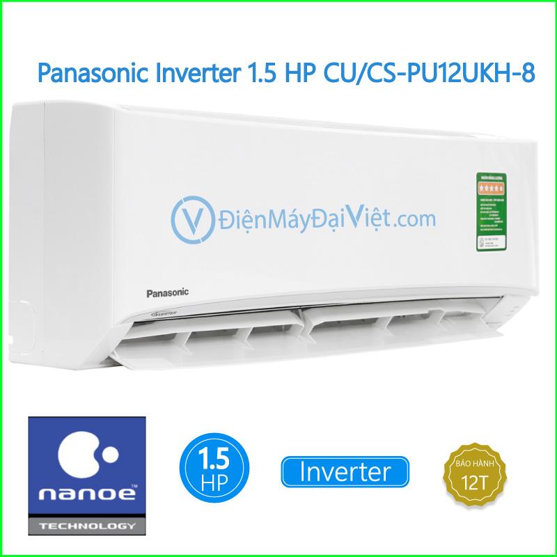 Máy lạnh Panasonic Inverter 1.5 HP CUCS PU12UKH 8