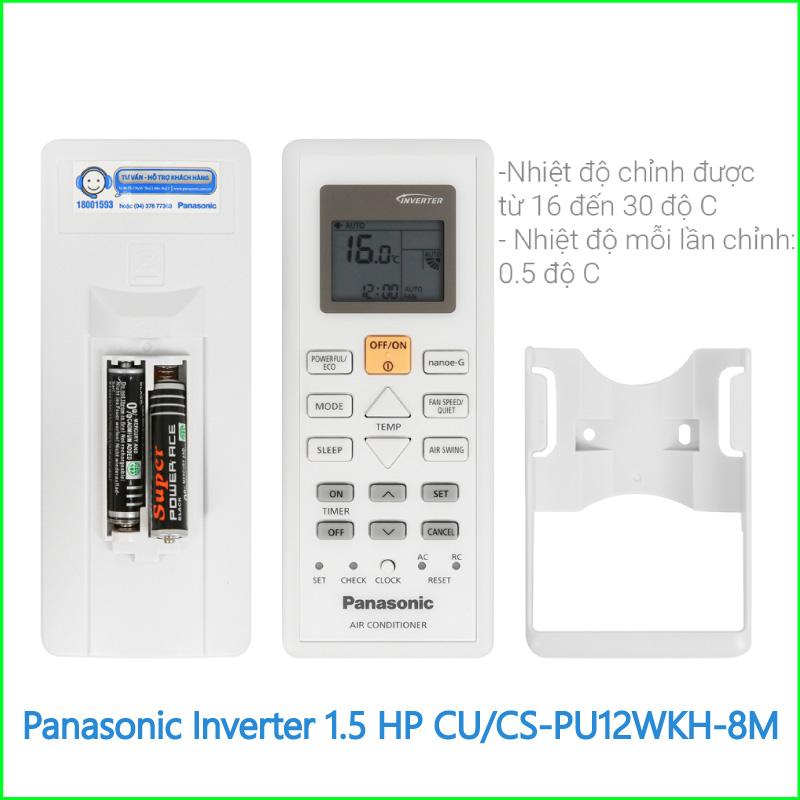 Máy lạnh Panasonic Inverter 1.5 HP CUCS PU12WKH 8M 2
