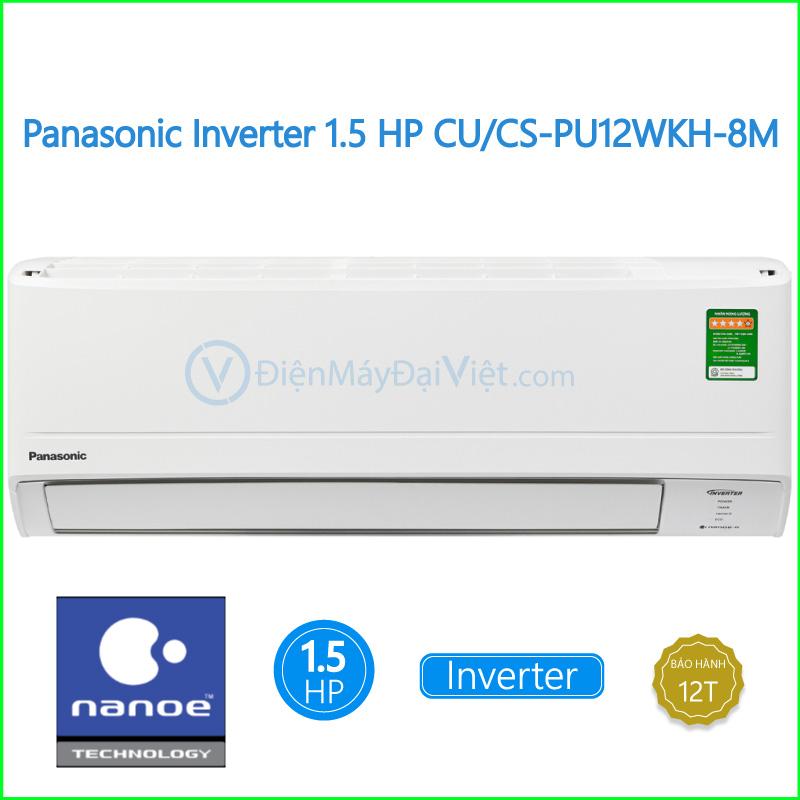 Máy lạnh Panasonic Inverter 1.5 HP CUCS PU12WKH 8M