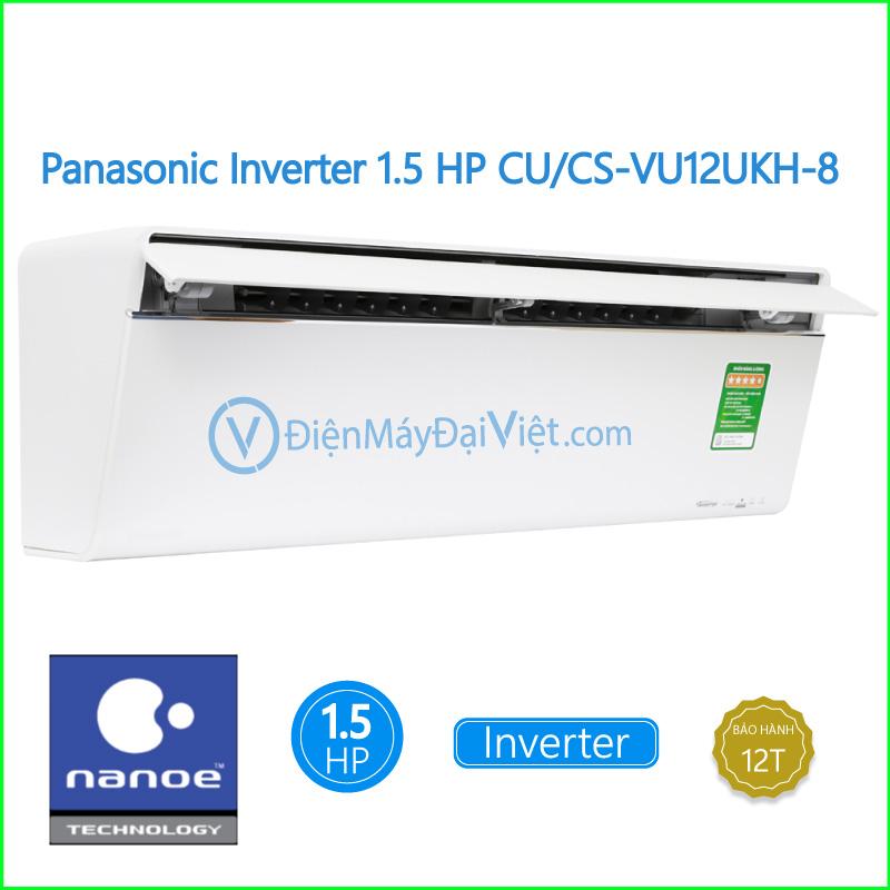 Máy lạnh Panasonic Inverter 1.5 HP CUCS VU12UKH 8