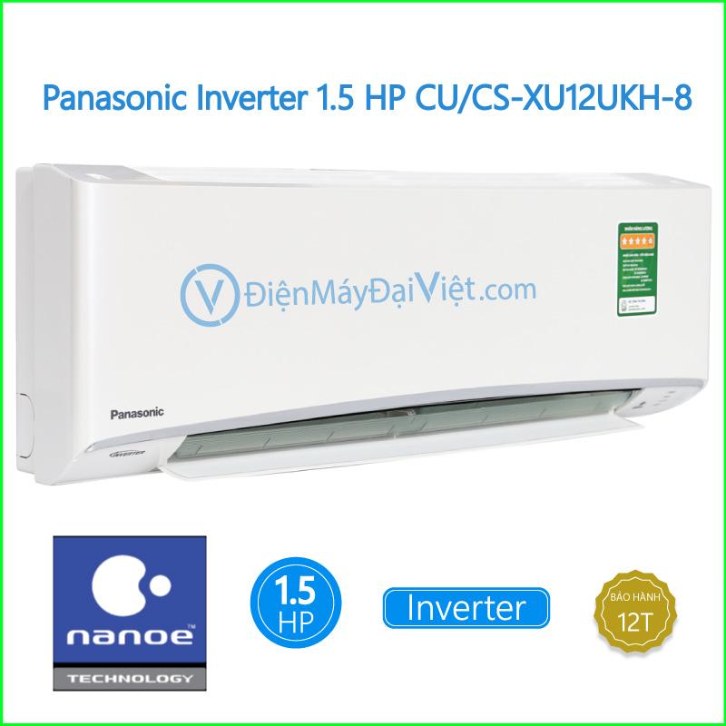 Máy lạnh Panasonic Inverter 1.5 HP CUCS XU12UKH 8