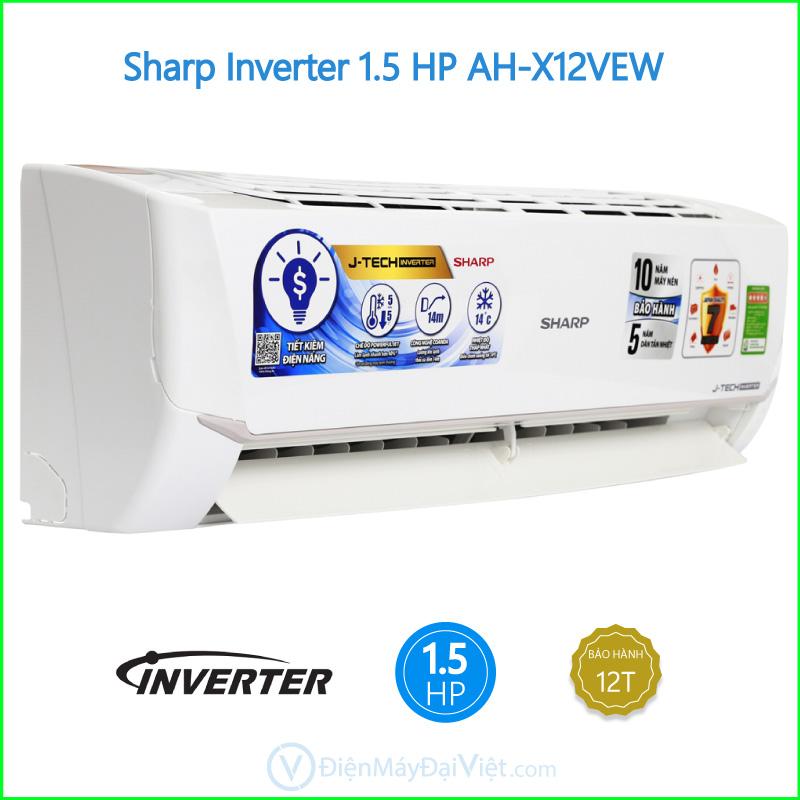 Máy lạnh Sharp Inverter 1.5 HP AH X12VEW
