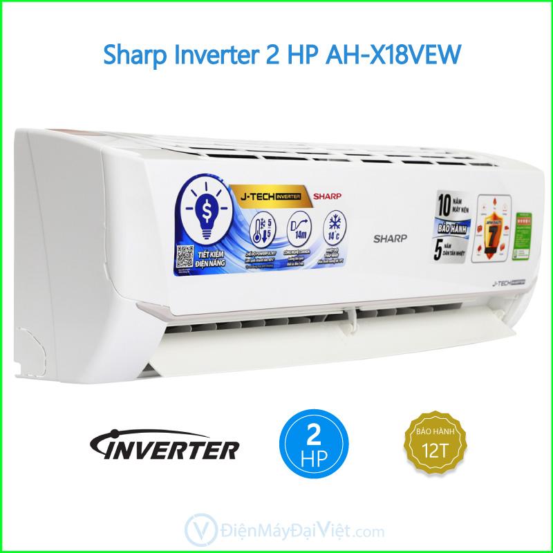 Máy lạnh Sharp Inverter 2 HP AH X18VEW