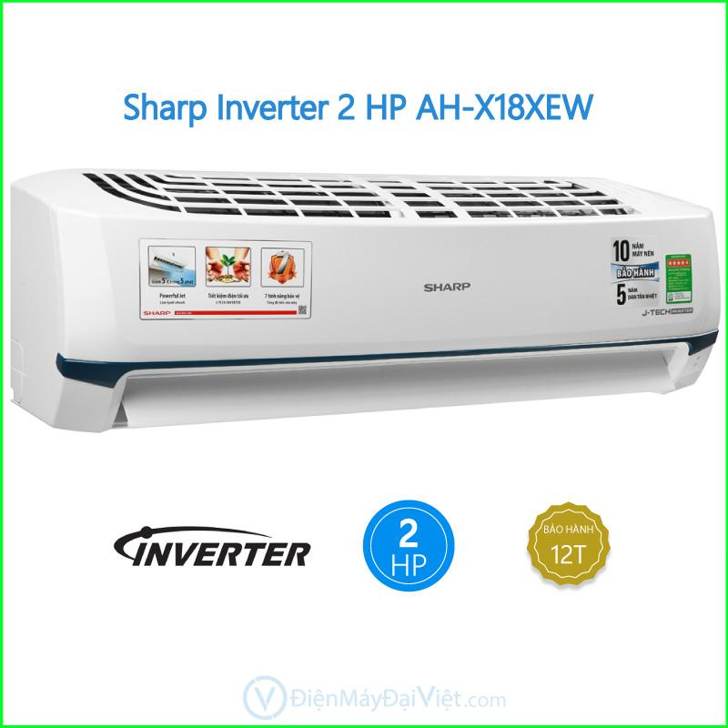 Máy lạnh Sharp Inverter 2 HP AH X18XEW