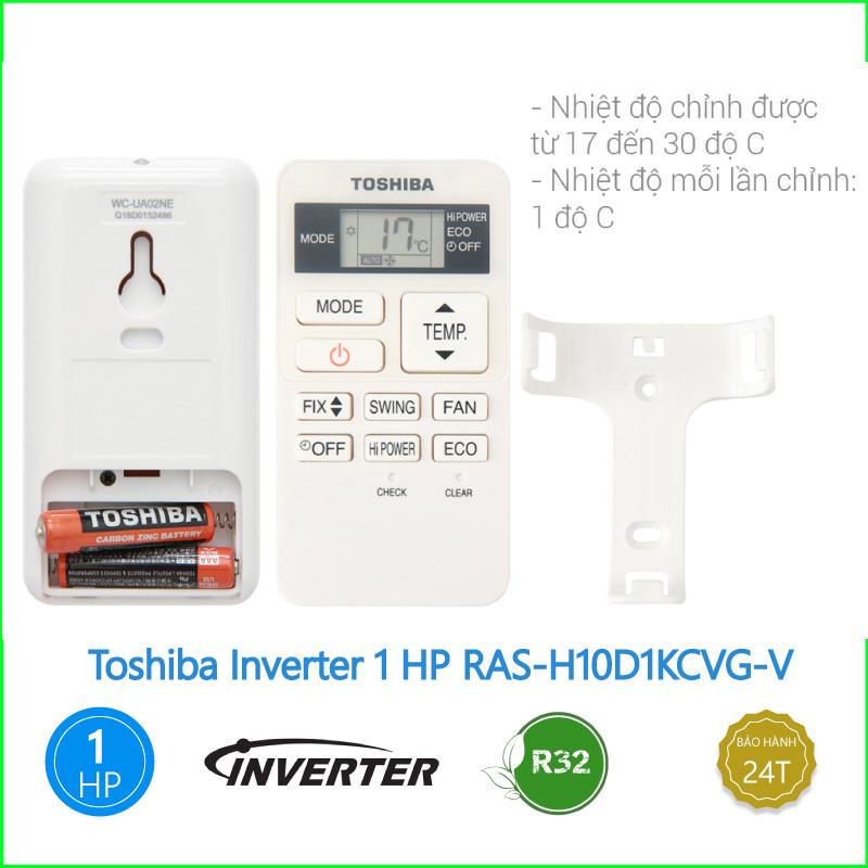 Máy lạnh Toshiba Inverter 1 HP RAS H10D1KCVG V 3