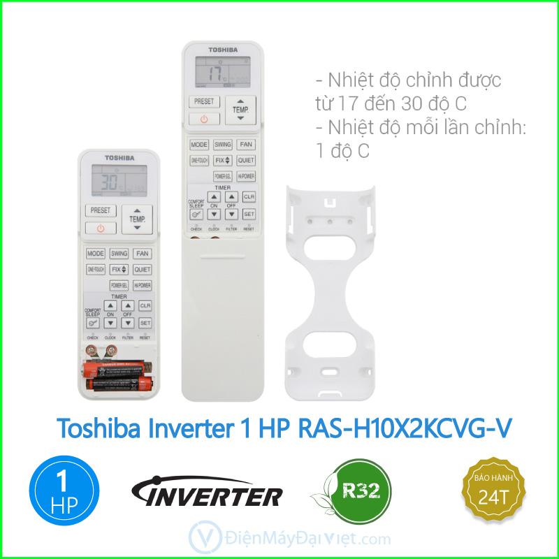 Máy lạnh Toshiba Inverter 1 HP RAS H10X2KCVG V 3