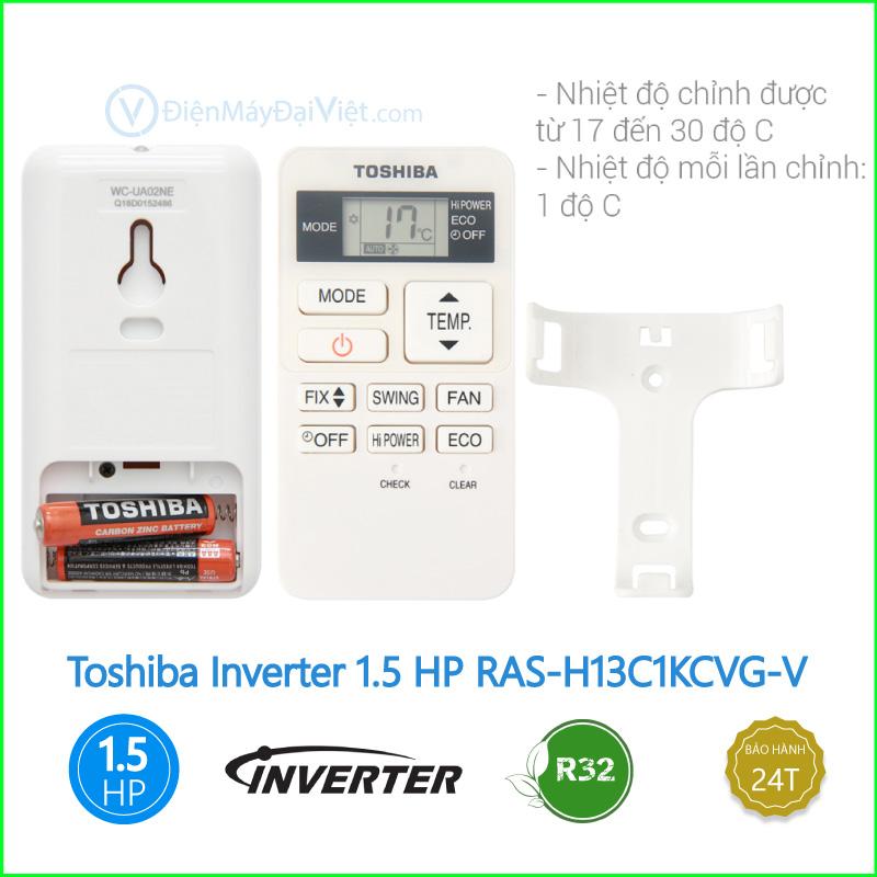 Máy lạnh Toshiba Inverter 1.5 HP RAS H13C1KCVG V 2