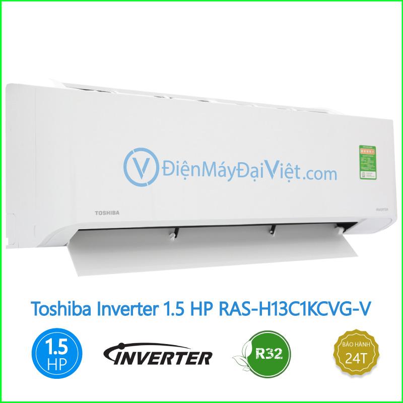 Máy lạnh Toshiba Inverter 1.5 HP RAS H13C1KCVG V