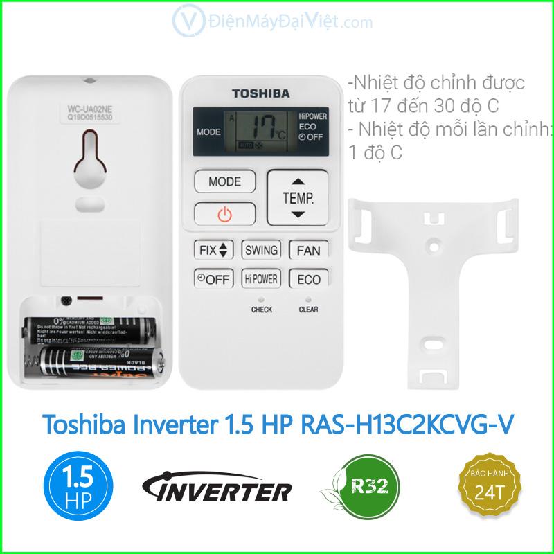 Máy lạnh Toshiba Inverter 1.5 HP RAS H13C2KCVG V 1