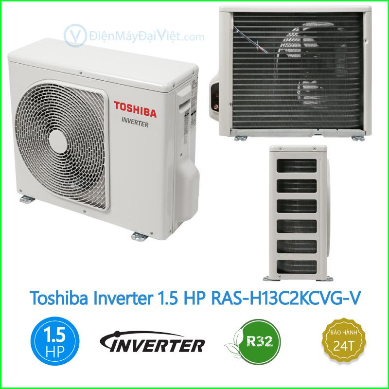 Máy lạnh Toshiba Inverter 1.5 HP RAS H13C2KCVG V 2