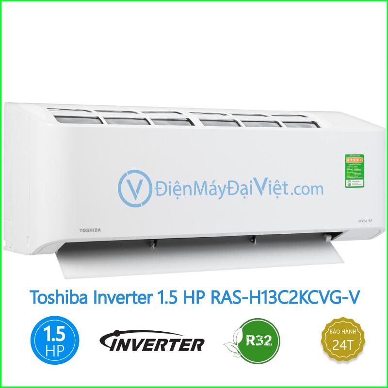Máy lạnh Toshiba Inverter 1.5 HP RAS H13C2KCVG V
