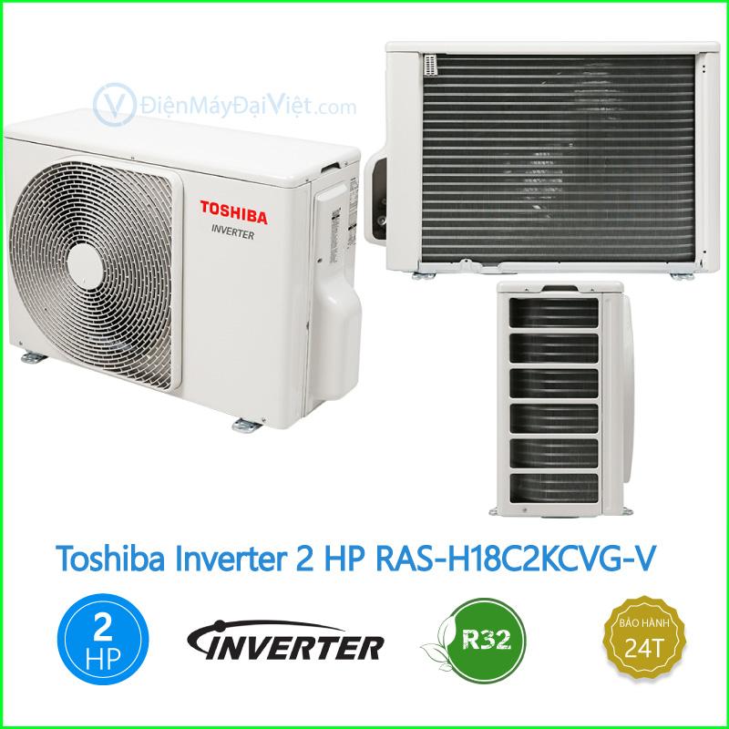 Máy lạnh Toshiba Inverter 2 HP RAS H18C2KCVG V 2