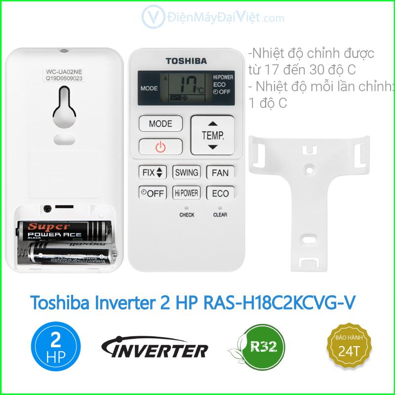 Máy lạnh Toshiba Inverter 2 HP RAS H18C2KCVG V 3