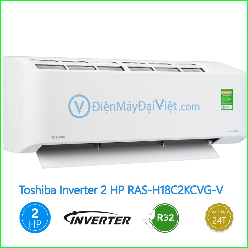 Máy lạnh Toshiba Inverter 2 HP RAS H18C2KCVG V