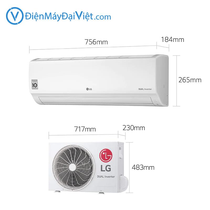 May lanh LG 1 HP V10ENH Inverter Chinh Hang 3