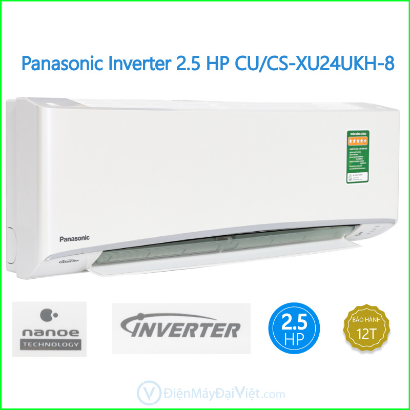 Panasonic Inverter 2.5 HP CUCS XU24UKH 8