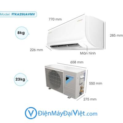 May Lanh Daikin Inverter 1 HP FTKA25UAVMV Moi 2020 Mat than 2