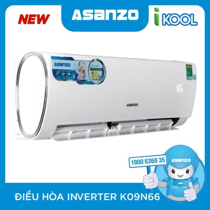 May Lanh Asanzo 1HP INVERTER K09N66 GAS 410 Chinh Hang