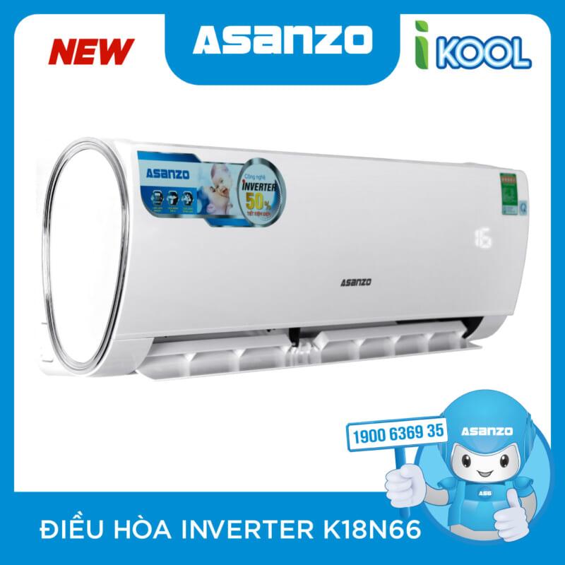 May Lanh Asanzo 2HP INVERTER K18N66 GAS 410 Chinh Hang
