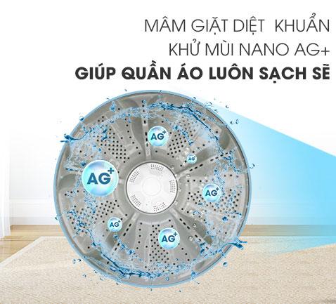 Cong nghe mam khu mui diet khuan nano AG may giat Aqua