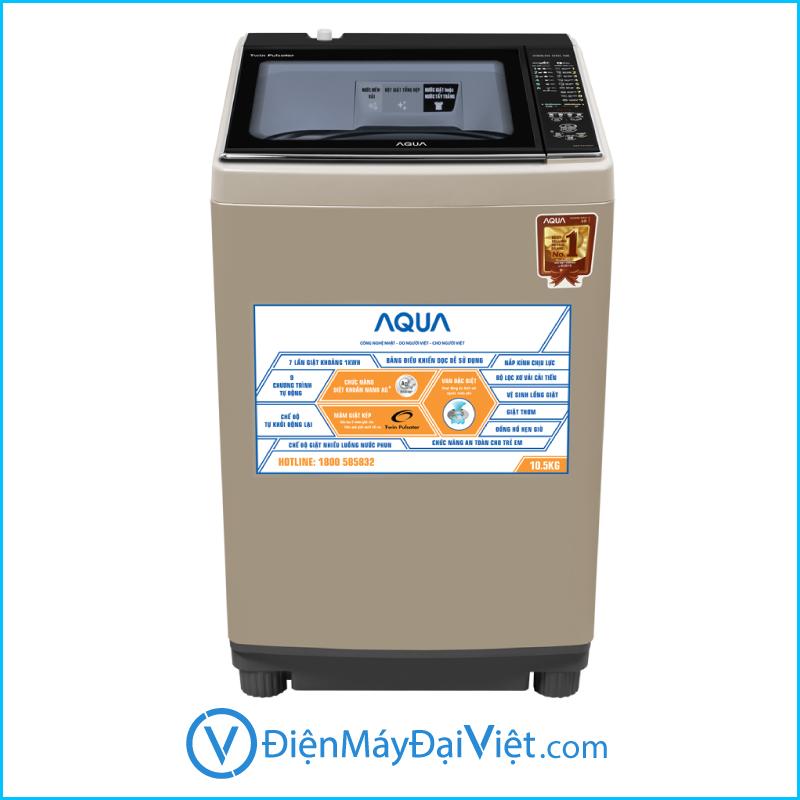May giat Aqua Inverter 10.5 kg AQW FW105AT N Chinh Hang