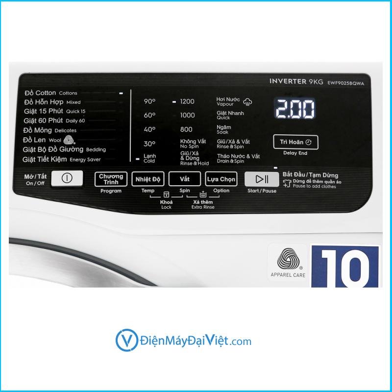 May giat Electrolux Inverter 9 Kg EWF9025 4