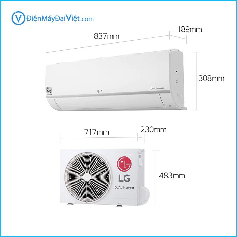 May lanh LG Inverter DualCool 1.5 HP V13ENS Chinh Hang 3