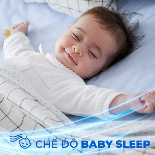 Che do baby sleep may lanh sharp