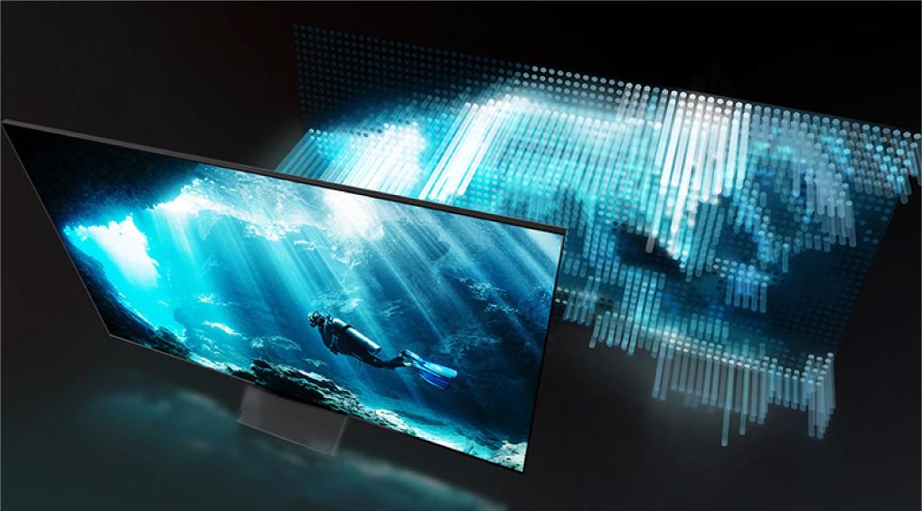 Smart Tivi Samsung 8K 75 65 inch khung hinh chieu nho Dirce Full Array