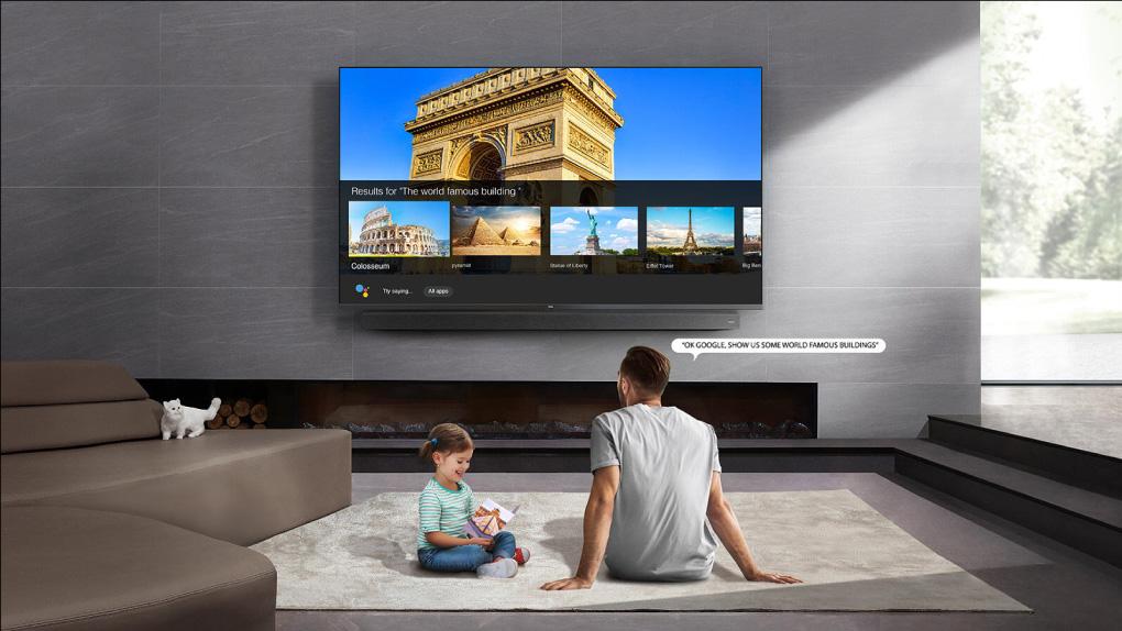 Tivi 8K QLED TCL 75 Inch 75x915 dieu khien bang giong noi