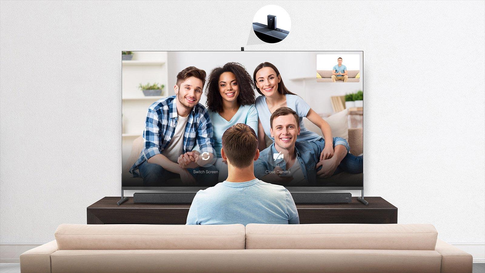 Tivi 8K QLED TCL 75 Inch 75x915.jpg chat video voi man hinh lon
