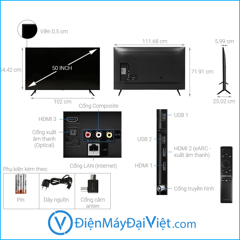 Tivi Samsung 4K 50 43 inch 1