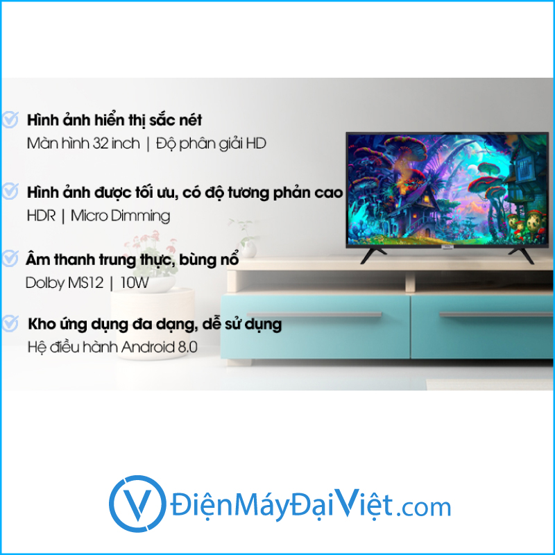 Tivi TCL 32 Inch 32S6500 Android 3