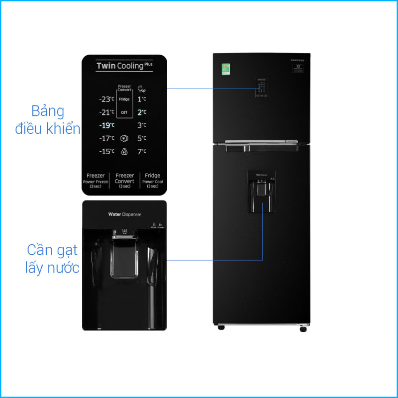 Tu lanh Samsung Inverter 319 lit RT32K5932BUSV 3